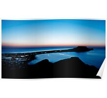 Worms Head at Sunset - Gower, Swansea Poster
