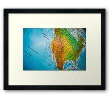 USA map Framed Print