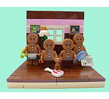 The Gingerbread Family  Photographic Print