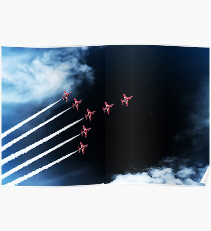 Red Arrows Swan 1 Formation Poster