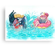Adventure Time - Marceline & Princess Bubblegum Canvas Print