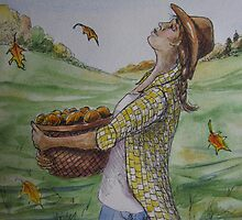 Cowgirl Series: Autumn Shower by Jeanne Vail