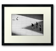 Lines, lights & shadows Framed Print