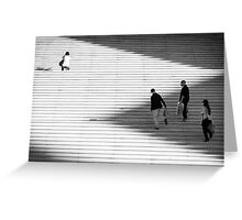 Lines, lights & shadows Greeting Card