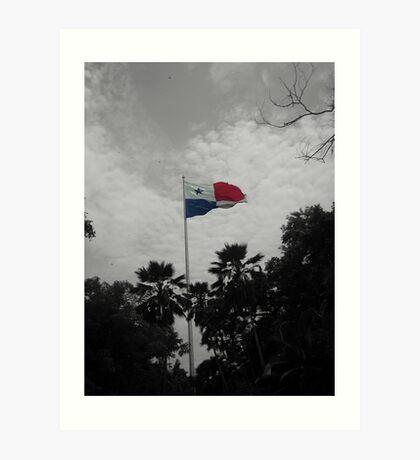 Panama Flag selective color Art Print