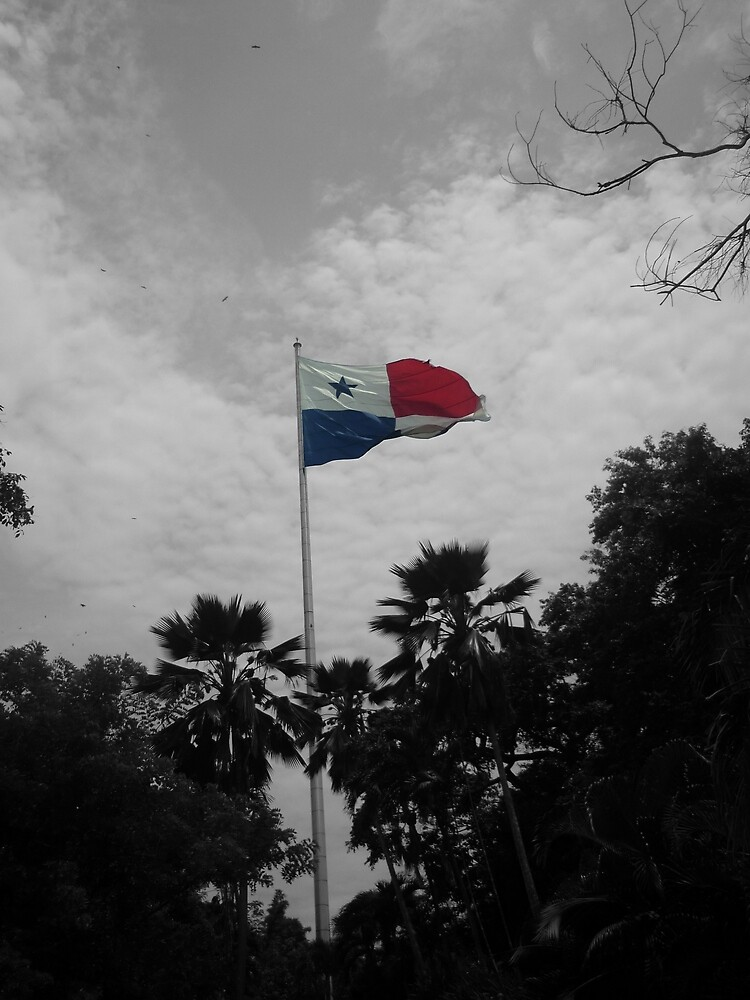 Panama Flag selective color by JuanEstebanV