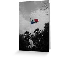 Panama Flag selective color Greeting Card
