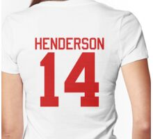 Logan Henderson jersey - red text Womens Fitted T-Shirt