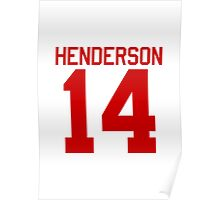 Logan Henderson jersey - red text Poster