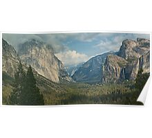scenic yosemite national park usa panoramic landscape Poster