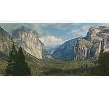 scenic yosemite national park usa panoramic landscape Photographic Print