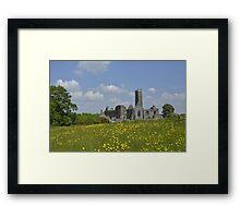 Quin Abbey County Clare Ireland Landmark Scenic Framed Print