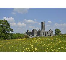 Quin Abbey County Clare Ireland Landmark Scenic Photographic Print