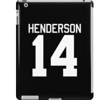 Logan Henderson jersey - white text iPad Case/Skin
