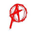 Anarchy Symbol Red by George Barwick
