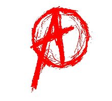 Anarchy Symbol Red by George Barwick