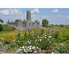 Quin Abbey County Clare Ireland Landmark Scenic Landscape Photographic Print