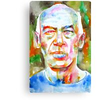 HENRY MILLER watercolor portrait.2 Canvas Print