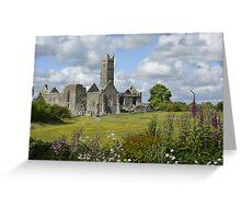 Quin Abbey County Clare Ireland Landmark Scenic Landscape Greeting Card