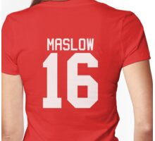 James Maslow jersey - white text Womens Fitted T-Shirt