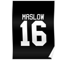 James Maslow jersey - white text Poster
