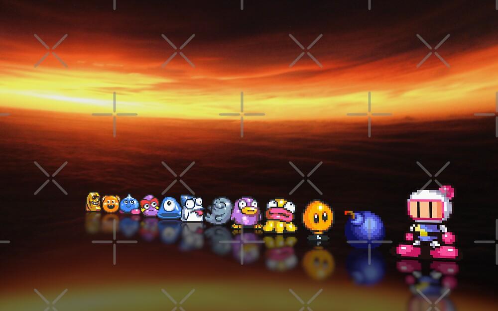 Bomberman - Panic Bomber B pixel art by smurfted