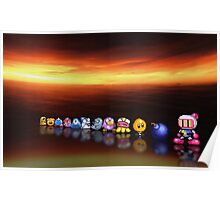 Bomberman - Panic Bomber B pixel art Poster