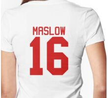 James Maslow jersey - red text Womens Fitted T-Shirt