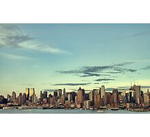 new york cityscape skyline landmark hudson river Photographic Print