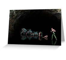 Alien 3 pixel art Greeting Card