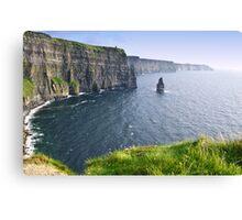 cliffs of moher scenic landscape seascape ireland Canvas Print