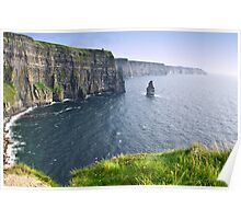 cliffs of moher scenic landscape seascape ireland Poster