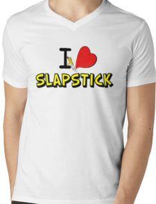 I love slapstick  Mens V-Neck T-Shirt