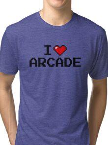I LOVE ARCADE Tri-blend T-Shirt