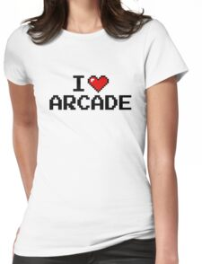 I LOVE ARCADE Womens Fitted T-Shirt
