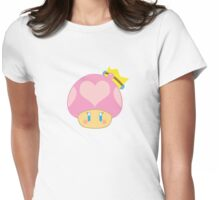 Princess Peach 1UP Mushroom  Womens Fitted T-Shirt