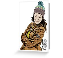 #girlsinweirs Greeting Card
