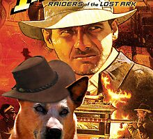 Australian Cattle Dog Indiana Jones Movie Poster by NobilityDogs