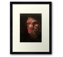 a mans head Framed Print