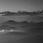 Swiss Alps in BW by Igor Pozdnyakov
