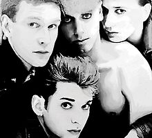 Depeche Mode : Single 81-85 - Paint B&W by Luc Lambert