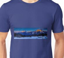Winter sunrise mount Begbie  Unisex T-Shirt