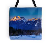 Winter sunrise mount Begbie  Tote Bag