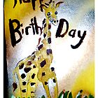 Happy Birthday Giraffe  by linwatchorn