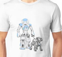 The Dog Walker. (Blue) Unisex T-Shirt