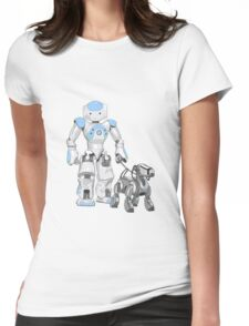 The Dog Walker. (Blue) Womens Fitted T-Shirt