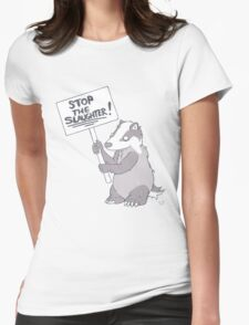 BADGER CULL PROTEST Womens Fitted T-Shirt