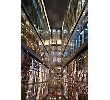 St.Pauls buildings in a rainy night in London Photographic Print