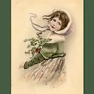 Holiday Greeting-Victorian Child by Yesteryears
