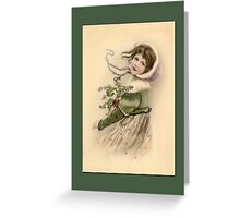 Holiday Greeting-Victorian Child Greeting Card